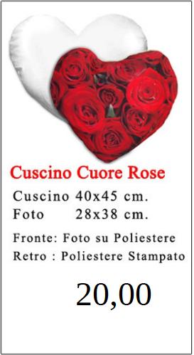 Cuscino Cuore Rose