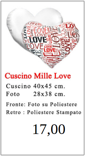 Cuscino Mille Love