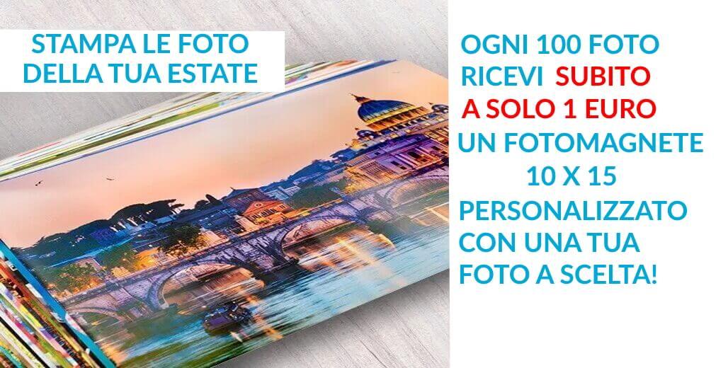 Stampa la tua Estate, per te un fotomagnete 10×15 a solo 1 € !